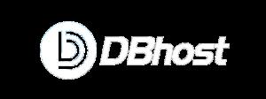 Dbhost Logo in Weiss